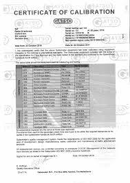 Quality Assurance Specialist Resume Sample Gosafe Calibration Certificates