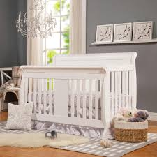 Convertible Cribs With Toddler Rail by Davinci Porter 4 In 1 Convertible Crib With Toddler Rail White