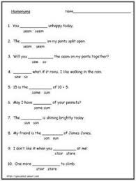 ideas collection homophones worksheets for grade 7 with additional