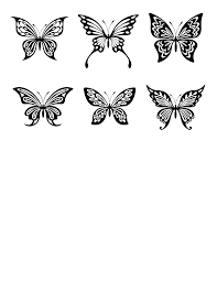 mel stampz a rabble of free butterfly silhouette shapes