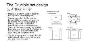 the crucible production design group task
