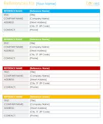 resume reference list template sample references page for with 15