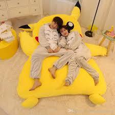 giant bean bag sofa japan anime giant plush toy stuffed pikachu sleeping bag beanbag