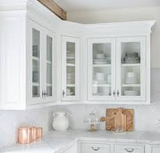 white kitchen cabinet with glass doors how to style glass kitchen cabinets sanctuary home decor