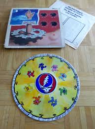 hand crafted upcycled hand painted vinyl record grateful dead