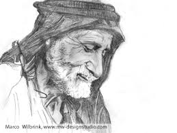 old man face from yemen pencil drawing by mw design studio marco