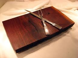 cutting board plate custom made live edge black walnut cutting board serving plate by