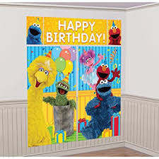 elmo decorations sesame elmo setters wall banner