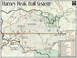 Map Of Custer State Park by Harney Peak Trail System Maplets