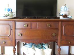 antique sideboard turned tv stand kingsbury brook farm