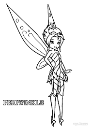 tinkerbell and periwinkle coloring pages in the color of page