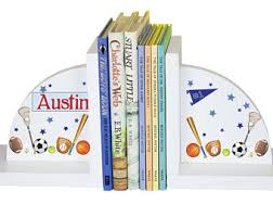 personalized bookends baby baseball bookends etsy