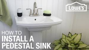 how to install a pedestal sink youtube