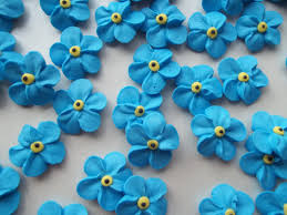 edible cake decorations royal icing forget me nots edible cake decorations cupcake