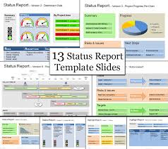 Resume Powerpoint Template Sample Status Report It Status Report Template Executive Status
