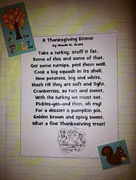 thanksgiving poetry activity thanksgiving and fall in the