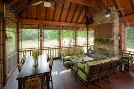 Screen Porch Fireplace by Screened Porch Beautifully Matches Home The Porch Companythe