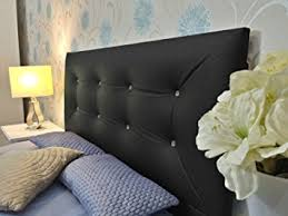 Black Headboards For Double Beds by Funkybuys 4ft6 Luxury Tufted Sandal Diamante Faux Leather