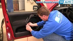 how to install replace remove front door panel volkswagen vw jetta