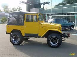 yellow toyota 1974 yellow toyota land cruiser fj40 37637665 gtcarlot com