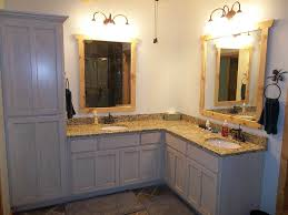 Corner Bathroom Vanity Cabinets Sensational Corner Double Sink Bathroom Vanity L Shaped Ideas