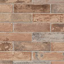 red realistic pre pasted brick wallpaper ll29534 the home depot