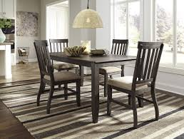 rectangular dining room table with wire brushed brown gray finish