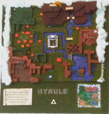 Map Of Hyrule Legend Of Zelda Lttp Hyrule World Map Diorama 7 Steps