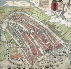 Holland Map Woodcut Of Mid 16th Century Amsterdam By Cornelis Antonisz Map