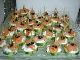 canapé saumon la cuisine de canapés au concombre saumon fumé