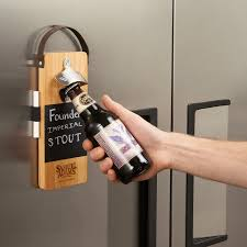 bottle opener wall mount magnet bullware wood wall mounted chalkboard bottle opener hansonellis com