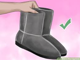 ugg s adirondack boot ii black grey 3 ways to wear ugg boots wikihow