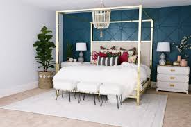 Design My Home On A Budget Master Bedroom Makeover With Awesome Accent Wall Classy Clutter