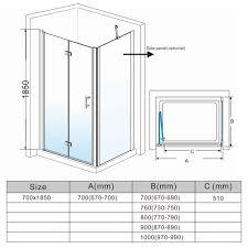 elegant frameless bifold shower door enclosure hinge door 6mm