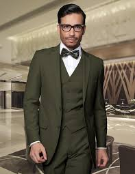 new color customization dark green dress coat pants vest men