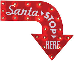 amazon com santa stop here sign home u0026 kitchen
