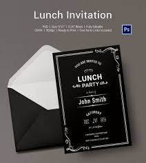 lunch invites lunch invitation templates free style by modernstork