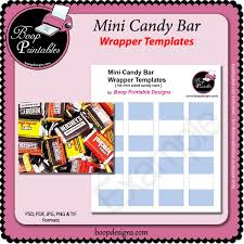mini sized candy bar template wraps by boop printable designs
