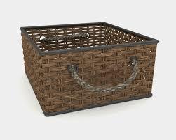 wicker basket 3d model in other 3dexport