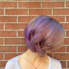 hair color pics highlights multi trend purple highlight hairstyle inspirations celebrity fashion