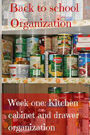 Organizing Kitchen Cabinets Back To Organization Series Week One Kitchen Cabinets And