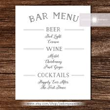 drink menu template free bar menu templates 35 free psd eps documents free