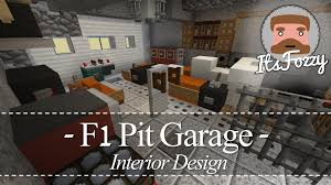 minecraft interior design f1 pit garage youtube