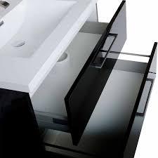 33 Inch Bathroom Vanity by Wall Mount Bathroom Vanity Black High Gloss Tn Ta860 Hgb