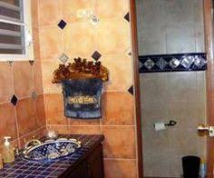 mexican bathroom ideas mexican style bathrooms large mexican style flower vase and