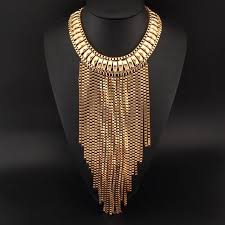 gold chain bib necklace images Fashion statement necklace images jpg