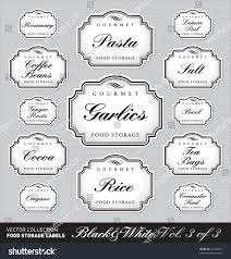 labels for kitchen canisters set 2 3 13 ornate vector stock vector 74260012