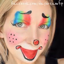 easy u0026 cute female clown face painting clown femaleclown
