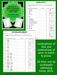 these worksheets are designed to allow students to practice money