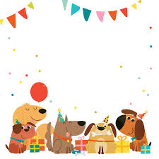 dog birthday party clipart collection